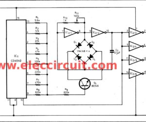 The sound effect generator circuit using CD4040 CMOS