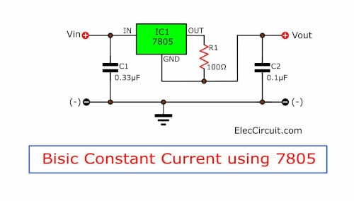 7805 Current Constant For Battery Charger on voltage regulator ic