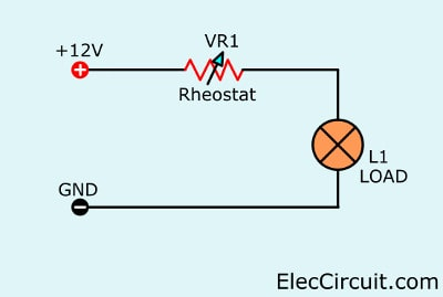dimmer using rheostat resistors