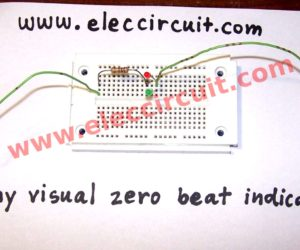 Tiny visual zero beat indicator circuit