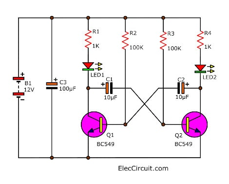 simple inverter circuit using 6 transistor