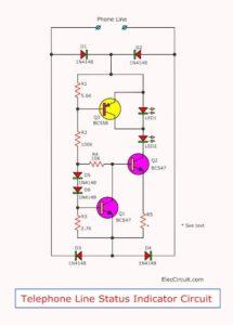 telephone line status indicator circuit
