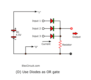 Use Diodes as OR gate