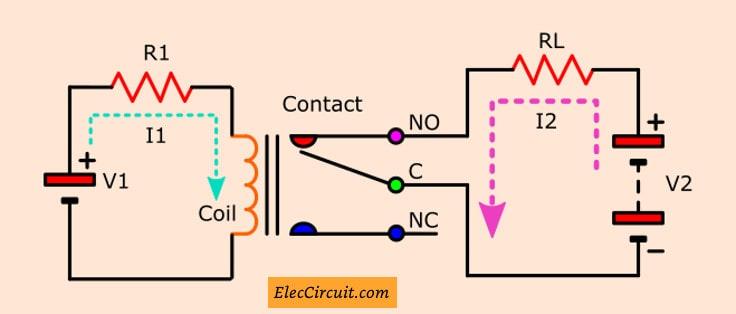 Transistor Relay driver circuit in digital   ElecCircuit com