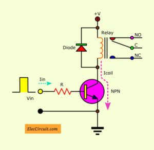 Normal transistor relay driver circuit