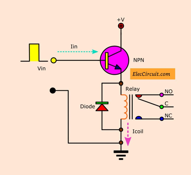 Drive relay by digital circuit elec circuit electronic circuit 3 relay driver that coil voltage from input ccuart Gallery