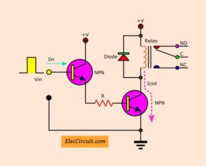 increase current gain of transistor relay driver