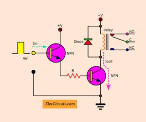 Transistor Relay driver circuit in digital