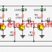 Three led flasher by 3 transistor astable multivibrator