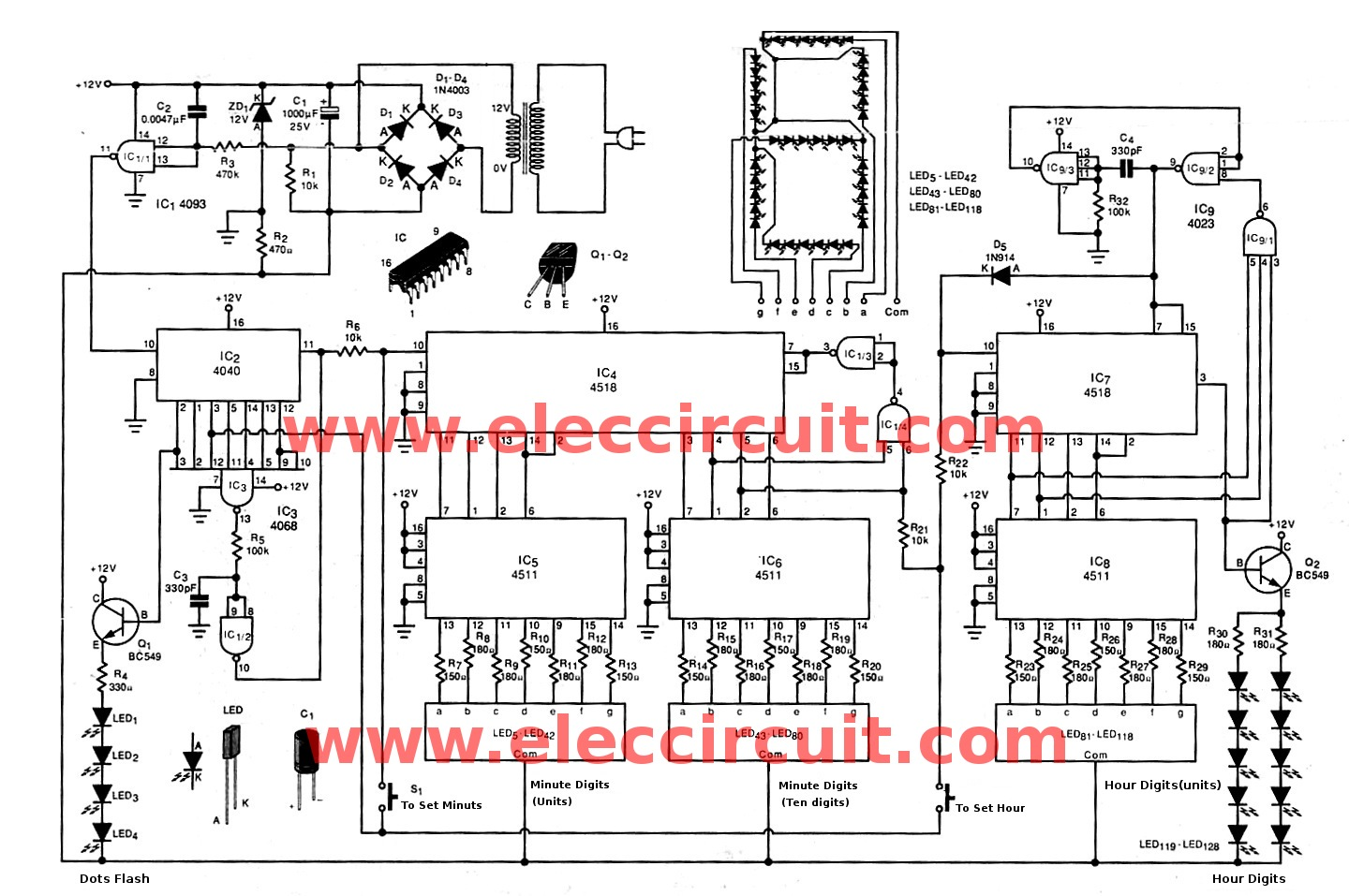 simple led clock circuit diagram meetcolab simple led clock circuit diagram jumbo digital clock circuit diagram