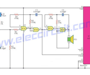 10 LED roulette circuits using TC4011-LM4017