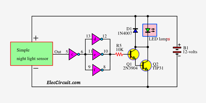 4-buffer-and-transistor-driver-circuit