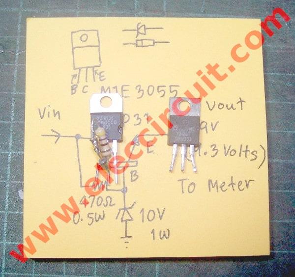 Diy Digital Voltmeter Panel Meter 0 50v Eleccircuit Com