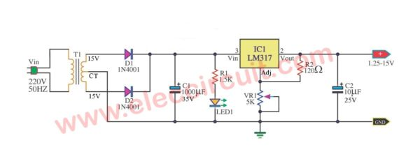 Adjustment-power-supply-values-1.25-15V-Max-current-0.5-amps