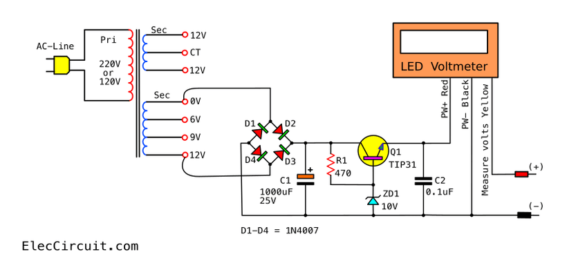Block Diagram Of Circuit