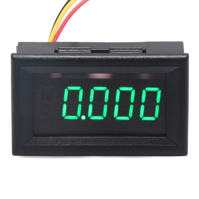 DC 0-30V 3 Wire Green LED Display Digital Voltage Voltmeter Panel