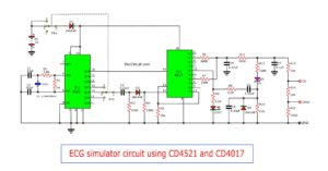 ECG simulator circuit using CD4521 and CD4017