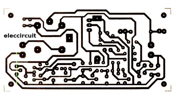 Single-sided Copper PCB layout