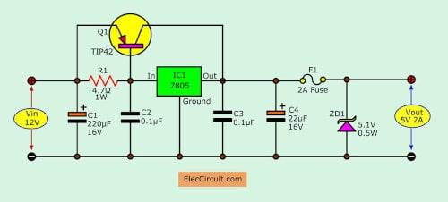 12V to 5V converter | Step down DC regulator in many ways to do