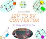 12V to 5V converter in many ways to do