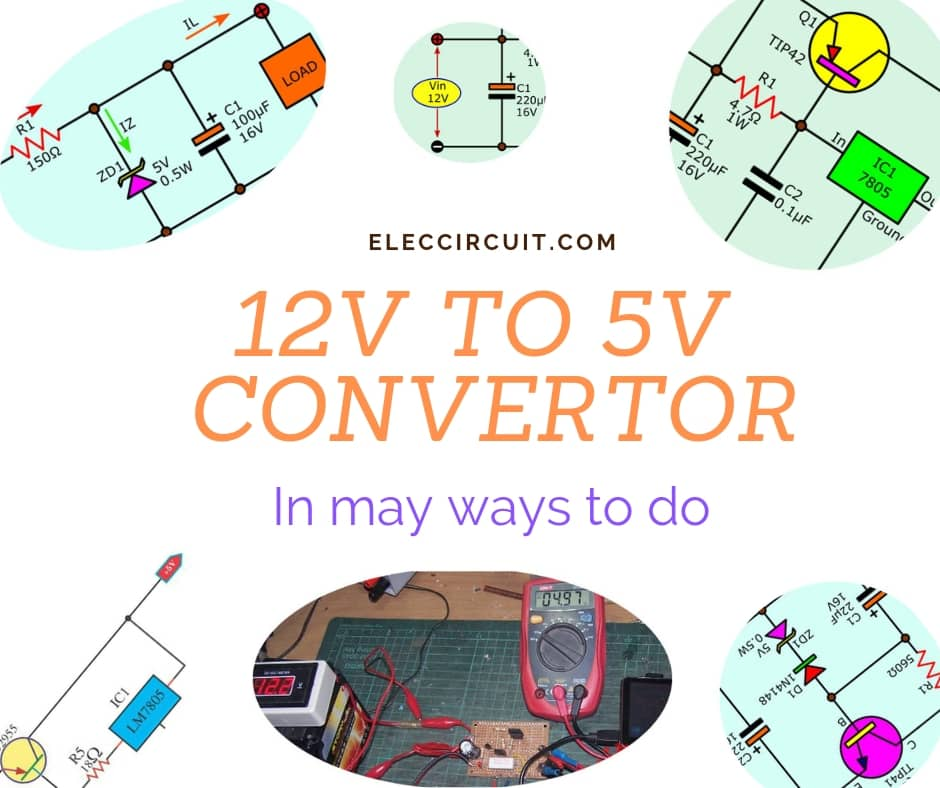 12V to 5V converter step down