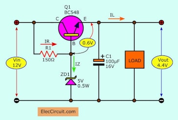 Adding transistor into zener regulator