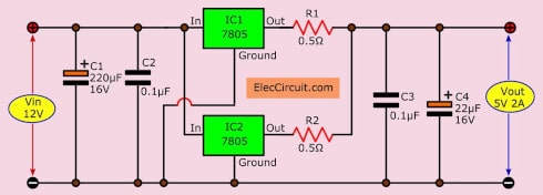 12V to 5V converter | Step down DC regulator in many ways to do
