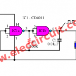 Simple Tone Generator circuit using inverter logic