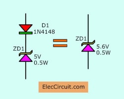 adding diode to new 5.6V Zener voltage