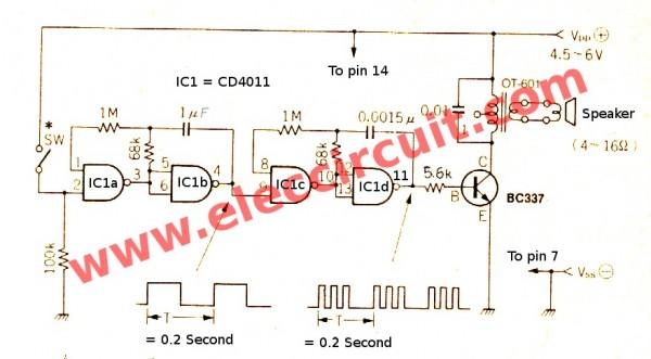electronic-clock-sounds-circuit-using-cd4011