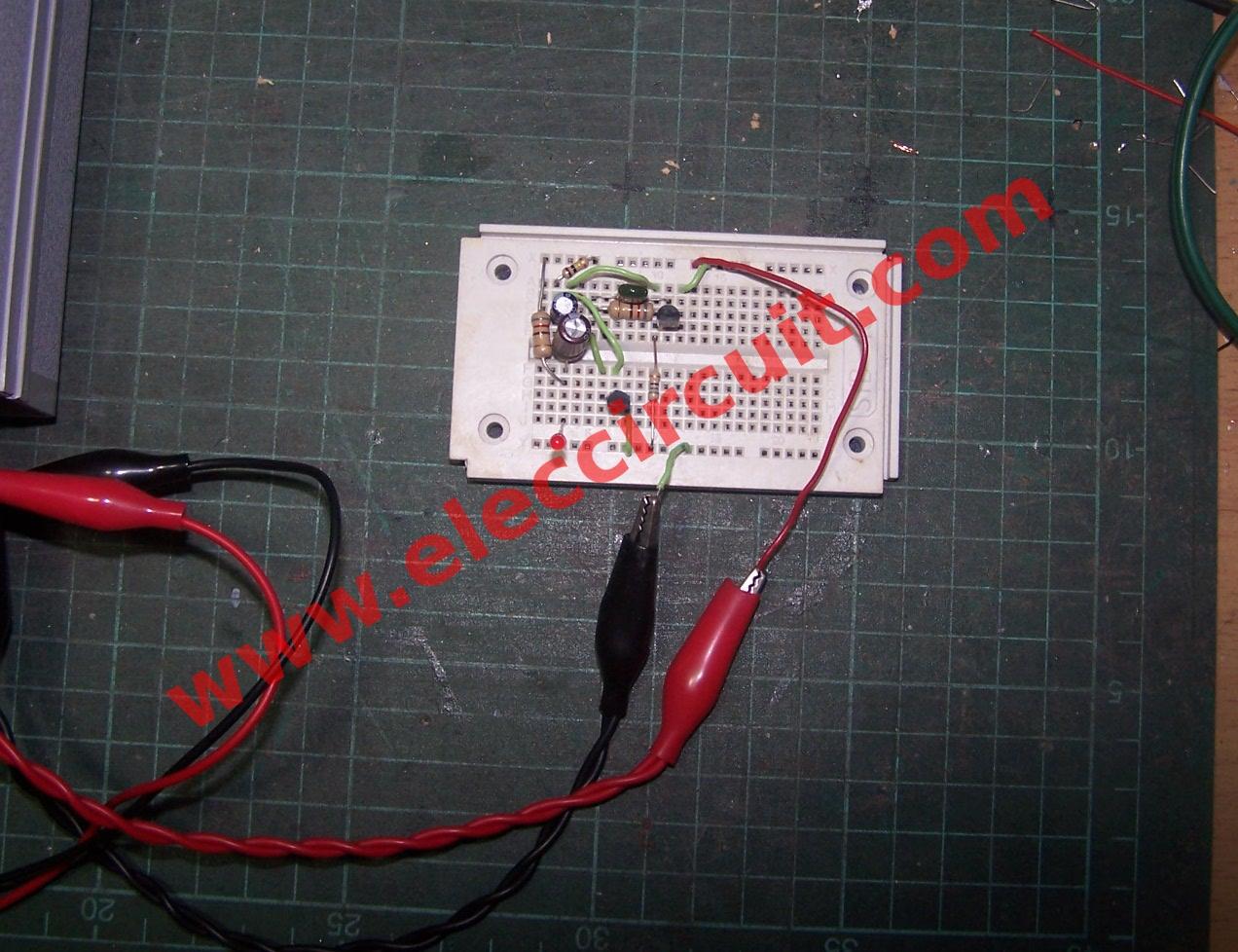 1 5v Led Flasher Circuit Using Bc556 And Bc546