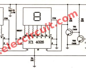 2 Digit Simple digital counter circuit using CD4026