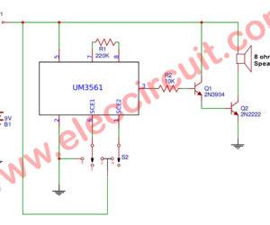 The 4 Sound effects generator using UM3561