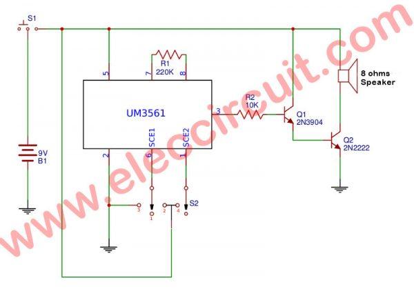 4-sound effect using UM3561
