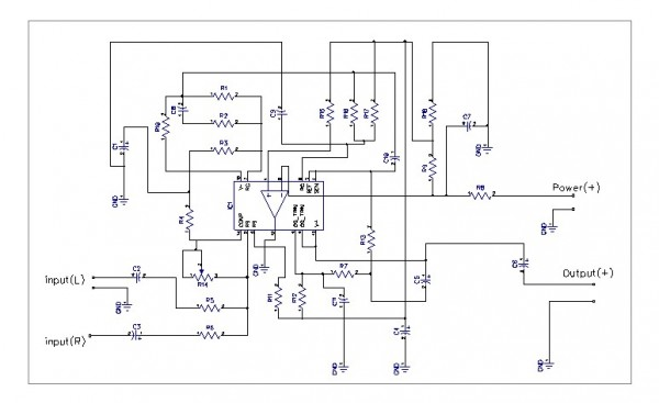 SCHEMATIC of low pass filter subwoofer using LM324