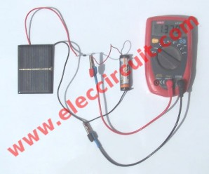 Simple 1.2V AA battery Solar charger circuit