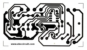 Actual size of single sided copper PCB layout