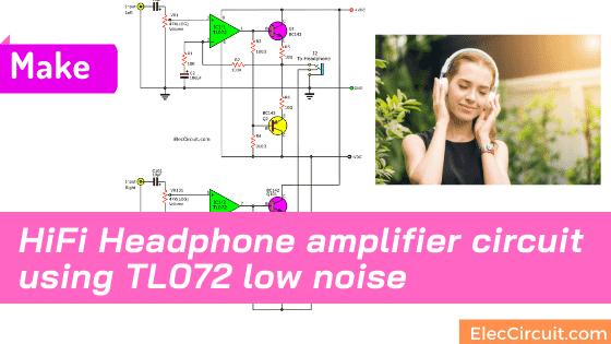 Transistor headphone amplifier circuit