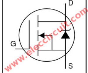 We should use IRF540N HEXFET Power MOSFET