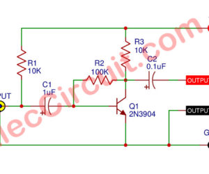 Very simple amplifier circuit using transistor 2N3904