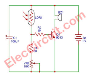Simple Refrigerator Door Alarm circuit