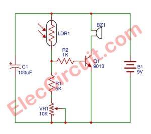 Simple Refrigerator Door Alarm circuit