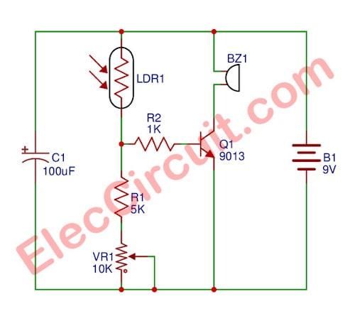 Door Guard Alarm circuit | ElecCircuit.com on
