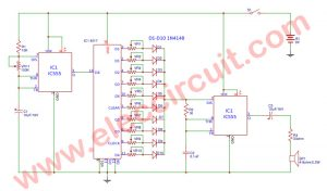Simple sound effect generator circuit using IC-555 and IC-4017