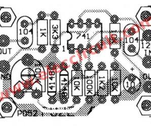 Simple guitar fuzz effect circuit using IC-741