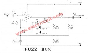 fuzz box circuit diagram