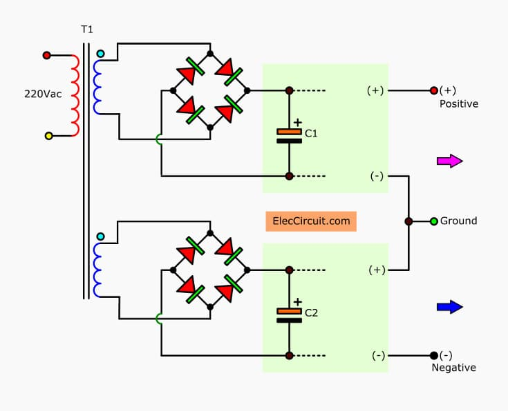 simple variable power supply circuit 0 30v 2a eleccircuit com