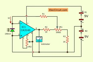 Complete Light meter circuit idea using diode
