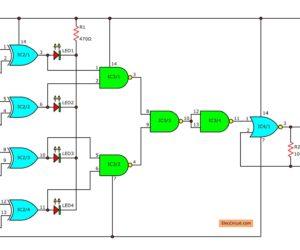 Logical guessing game circuit