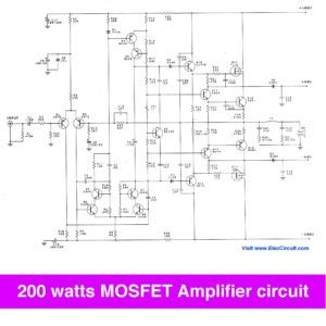 200 watt mosfet amplifier circuit
